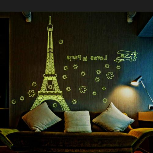 68.8''*55.1'' Paris Eiffel Tower Wall Sticker Removable Home