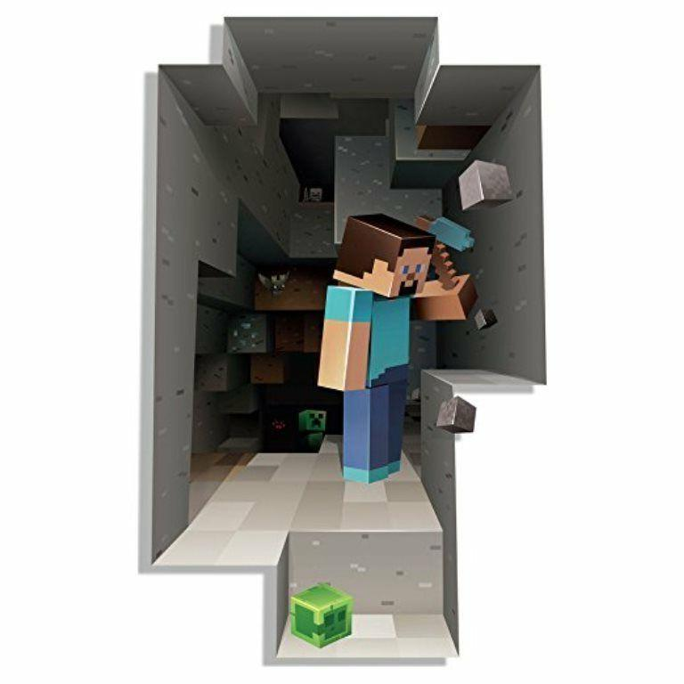 Minecraft Wall Decal Kids Room Steve Game Removable Sticker