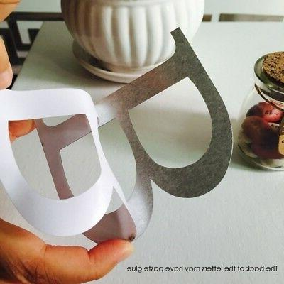 Letters Wall Decor DIY Silver
