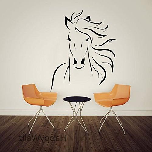 mustang horse silhouette wall decal