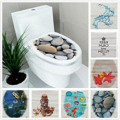 Toilet Seat Wall Sticker Bathroom Decal