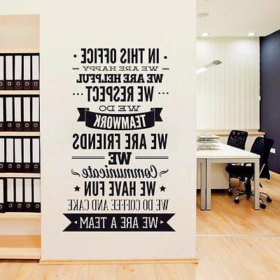 """OFFICE RULES """"WE ARE A TEAM"""" Removable Wall Decal Vinyl Quot"""