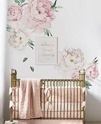 Peony Flowers Wall - Pink by Simple