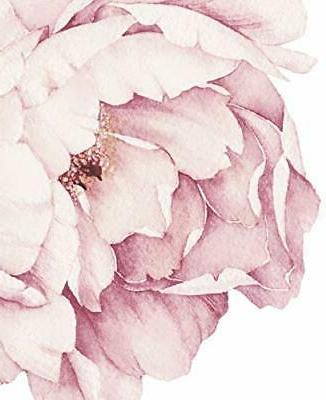 Peony Flowers Wall - Vintage Pink by Simple Shapes