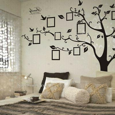 Large Photo Picture Frame Family Tree Removable Wall Sticker