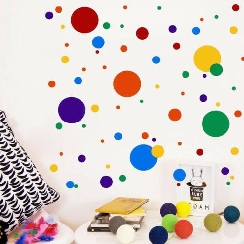 Colorful Polka Dot  Wall Sticker Kids Nursery  Removable  De