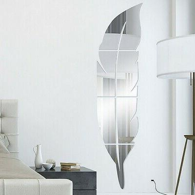 Removable Mirror Wall Stickers Art Decor US