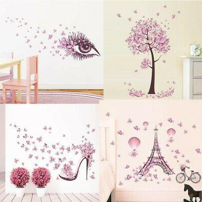 removable butterfly decal pvc vinyl art mural