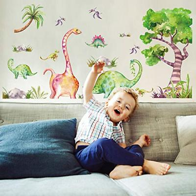 Amaonm Removable Dinosaur and Tree Wall Stickers DIY Kids Ro