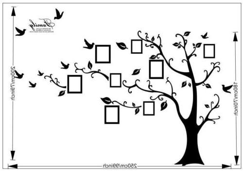 Family Tree Wall Decal Sticker Large Photo Picture Black