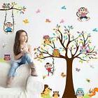 Amaonm Removable Giant Brown Tree & Cororful Leaves Wall Dec