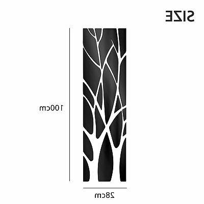 3D Mirror Tree Removable Sticker Acrylic Mural Decal Home Room Decor