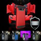 Samsung GALAXY Note 8 Armor Rubber Rugged Case Cover With Sc