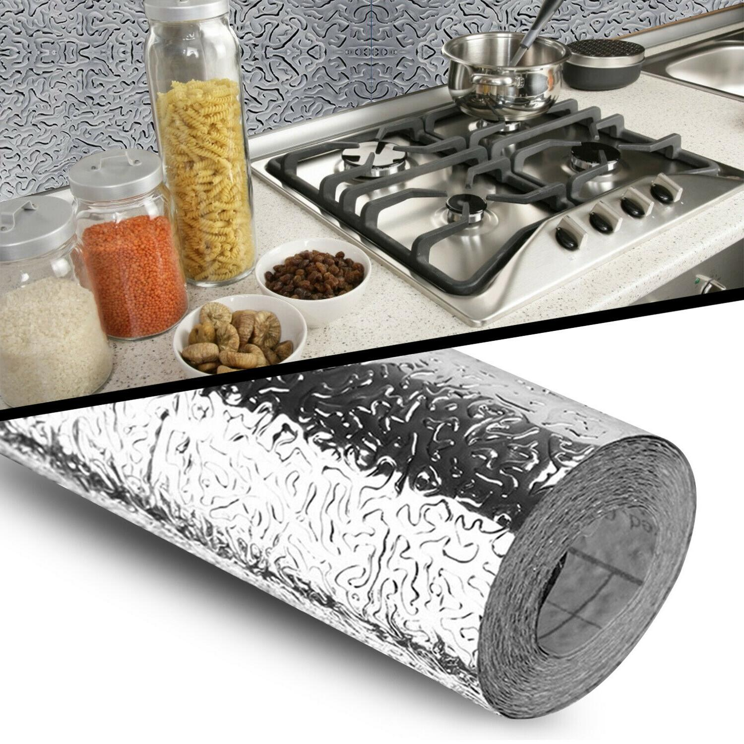 self adhesive aluminum foil kitchen cabinet wall