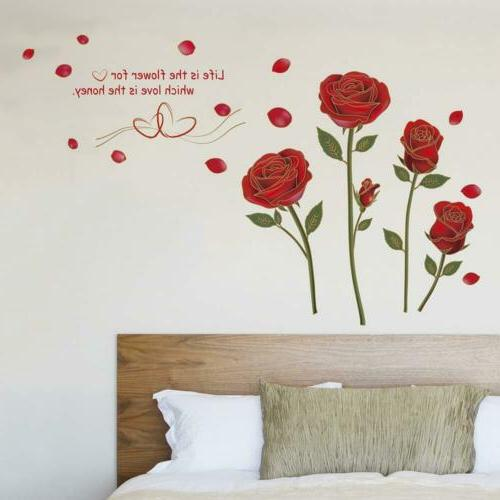 UfingoDecor Red Removable Wall Stickers Living Room/Bedroom...