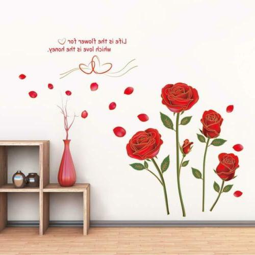 UfingoDecor Rose Removable Wall for Living