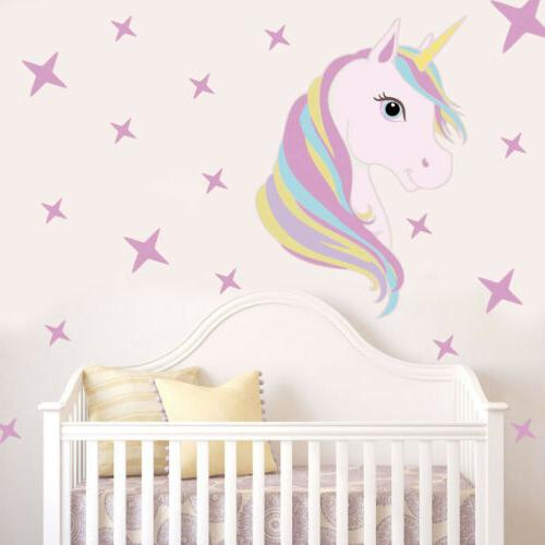 Unicorn Star Wall Sticker Unicorn Horse Wall Decals Nursery