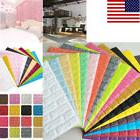 US 20-Colors 3D Removable Brick Pattern Wall Sticker  Panels