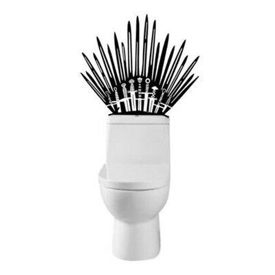 US! Iron Throne Decal Toilet Decor