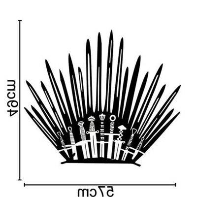 US! of Thrones Iron Vinyl Decal Toilet Wall Sticker Home Decor Props