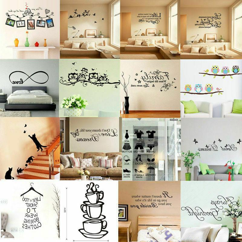 Home Living Room Decor Art Quote Wall Decal Stickers Bedroom