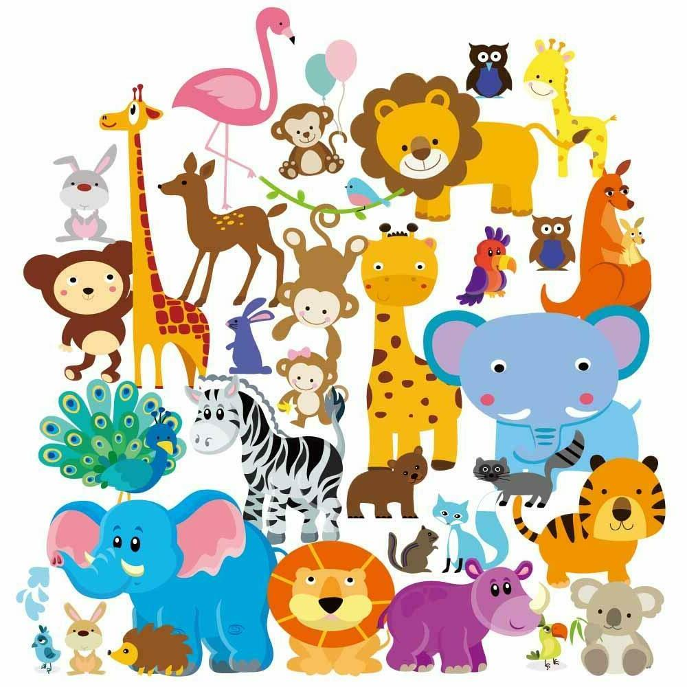 Wall Art Stickers Kids Animal Boy Kids Baby Decal For Bedroo