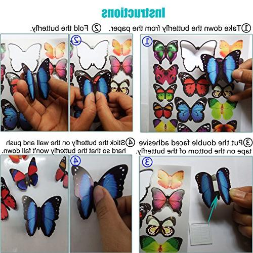 Heansun Decal Butterfly, Wall Decals for Home Nursery