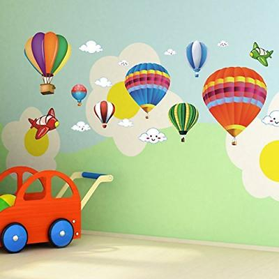 Wall Decal Amaonm removable Creative 3D Hot Air Balloon Airc