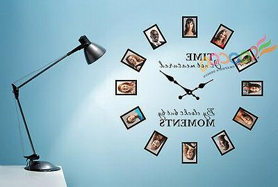 Wall Decal Sticker Tree Removable Family Photo Frames Clock