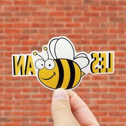 Lesbian Sticker, Includes Two  Stickers, Bee, Gay, Gay Pride