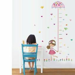 Little Girls Height Chart Kids Wall Decals Wall Stickers for