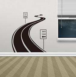 BIBITIME Living Room Sign Sticker Speed Limit 60 Sinuous Win