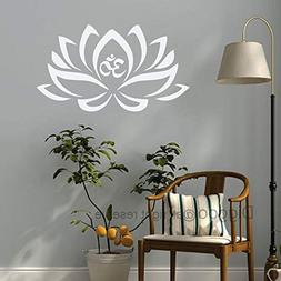 Lotus Flower With Om Sign Yoga Wall Decals Vinyl Mandala Flo