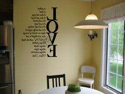 LOVE IS PATIENT LOVE IS KIND VINYL WALL DECAL HOME LETTERING