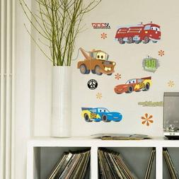 Lovely Cartoon Cars Removable Wall Stickers For Kids Boys Ro