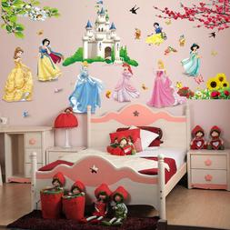 Lovely Castle Princess Wall Stickers For Kids Room Fairy Tal