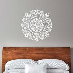 Mandala Stencil Gratitude - Reusable Stencils for Walls - St