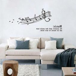 Melodious Musical Notation Vinyl Wall Stickers For Kids Room