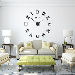 FAS1 Modern DIY Large Wall Clock Big Watch Decal 3D Stickers
