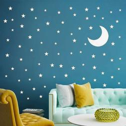 Moon Stickers And Stars Wall Decal Vinyl For Kids Boy Girls