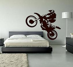 Ditooms Motocross Wall Decal Dirt Bike Vinyl Wall Decor Moto