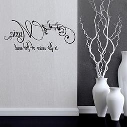BIBITIME Musical Notes Wall Decals Sayings Music is the voic