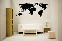 Newclew NC-MP-1 World Map Wall Decal Vinyl Art Sticker Home