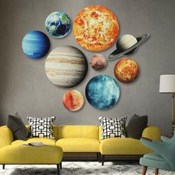 New Glow In The Dark 9# Planets Solar System Wall Stickers D