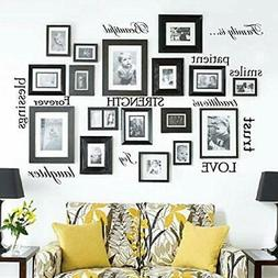 NEW Item Set Of 12 Family Quote Words Vinyl Wall Sticker Pic