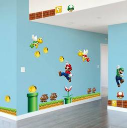 NEW Super Mario Bros Removable Wall Stickers Decal Kids Home