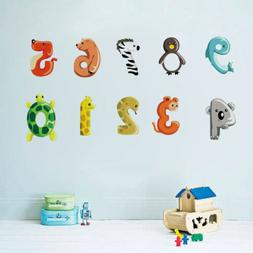 Number Wall Sticker Removable Art Vinyl Decals Kids Nursery