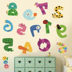 Numbers Animals Removable Wall Sticker Nursery Baby Decor Ki