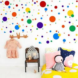 Polka Dot Color Teaching Wall Sticker Nursery Bedroom Wall M