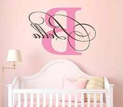 """Nursery Custom Name and Initial Wall Decal Sticker 36"""" W by"""